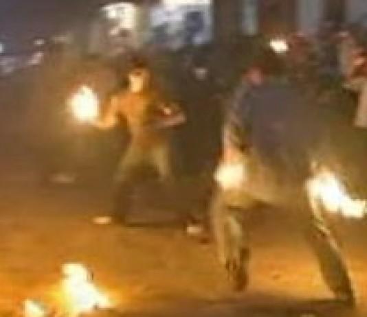 Fireball-throwing festival in El Salvador